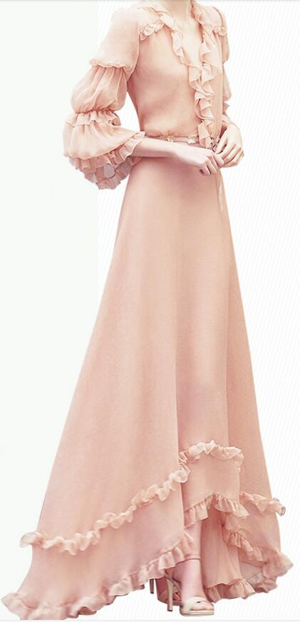 women mid sleeve chiffon princess dress summer dress