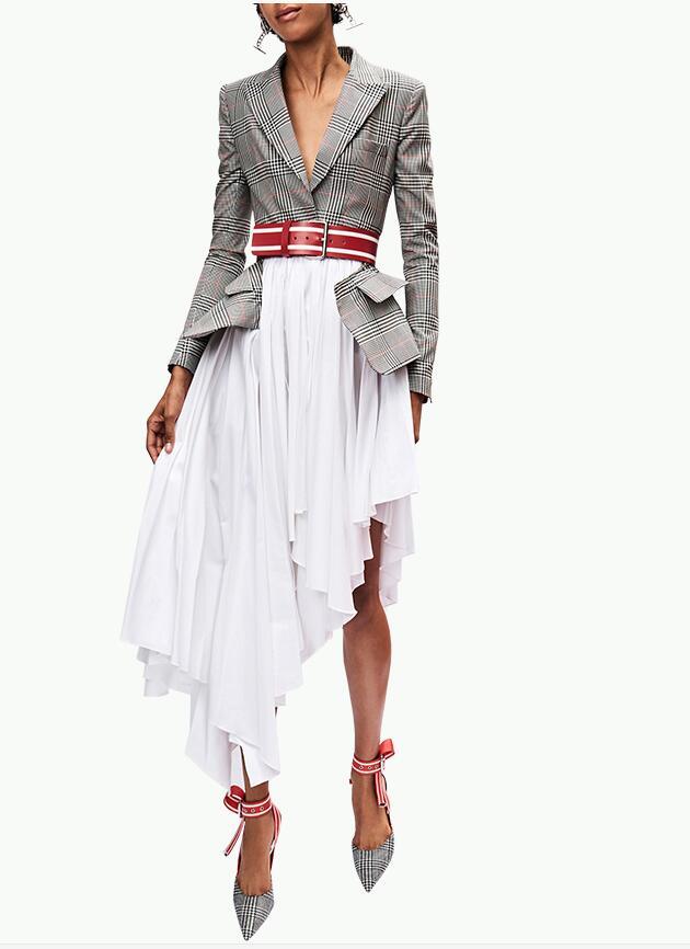 European women irregular bottom dress