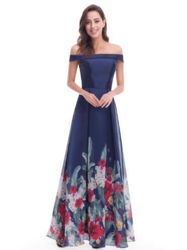 women off shoulder print maxi dress